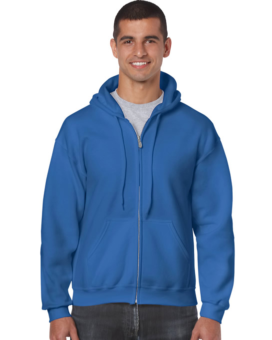 Bluza Heavy Blend Full Zip Hooded Adult GILDAN 18600 - Gildan_18600_14 - Kolor: Royal blue