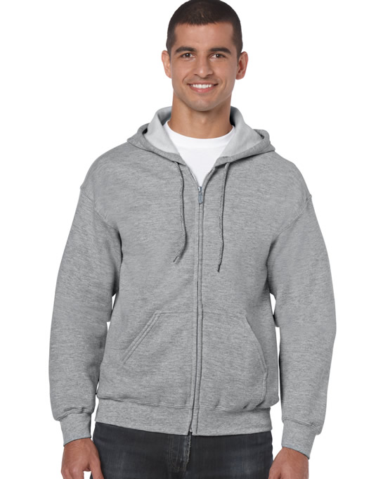 Bluza Heavy Blend Full Zip Hooded Adult GILDAN 18600 - Gildan_18600_15 - Kolor: Sport grey