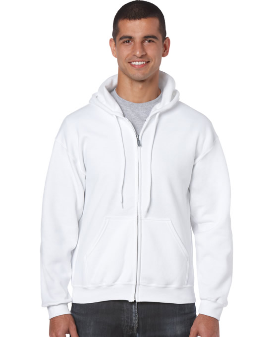 Bluza Heavy Blend Full Zip Hooded Adult GILDAN 18600 - Gildan_18600_16 - Kolor: White