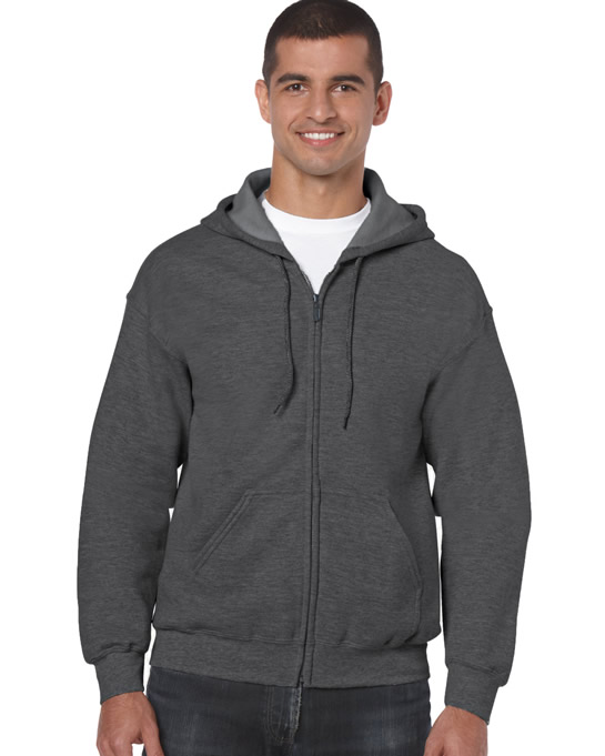 Bluza Heavy Blend Full Zip Hooded Adult GILDAN 18600 - Gildan_18600_18 - Kolor: Dark heather
