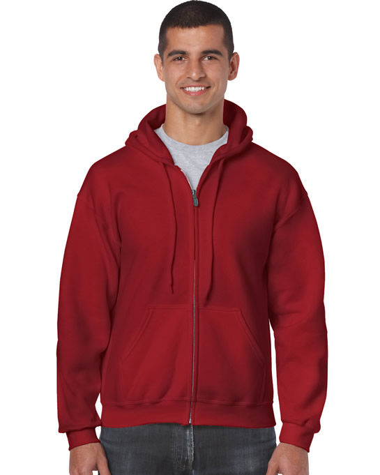Bluza Heavy Blend Full Zip Hooded Adult GILDAN 18600 - Gildan_18600_17 - Kolor: Cardinal red