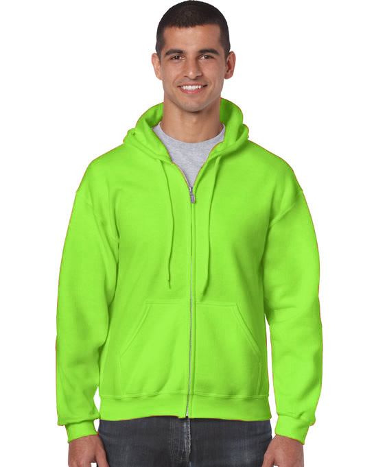 Bluza Heavy Blend Full Zip Hooded Adult GILDAN 18600 - Gildan_18600_19 - Kolor: Safety green