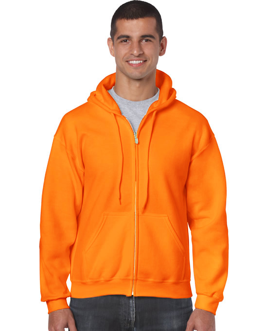 Bluza Heavy Blend Full Zip Hooded Adult GILDAN 18600 - Gildan_18600_20 - Kolor: Safety orange