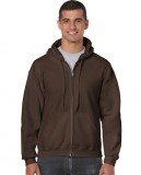 Bluza Heavy Blend Full Zip Hooded Adult GILDAN 18600 - Gildan_18600_04 Dark chocolate