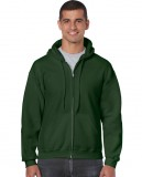 Bluza Heavy Blend Full Zip Hooded Adult GILDAN 18600 - Gildan_18600_05 Forest green