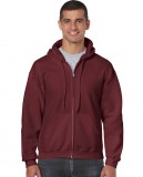 Bluza Heavy Blend Full Zip Hooded Adult GILDAN 18600 - Gildan_18600_09 Maroon