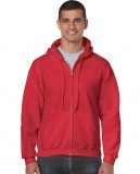 Bluza Heavy Blend Full Zip Hooded Adult GILDAN 18600 - Gildan_18600_13 Red