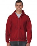 Bluza Heavy Blend Full Zip Hooded Adult GILDAN 18600 - Gildan_18600_17 Cardinal red