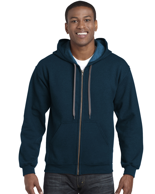 Bluza Heavy Blend Vintage Classic Full Zip Hooded GILDAN 18700 - Gildan_18700_04 - Kolor: Midnight