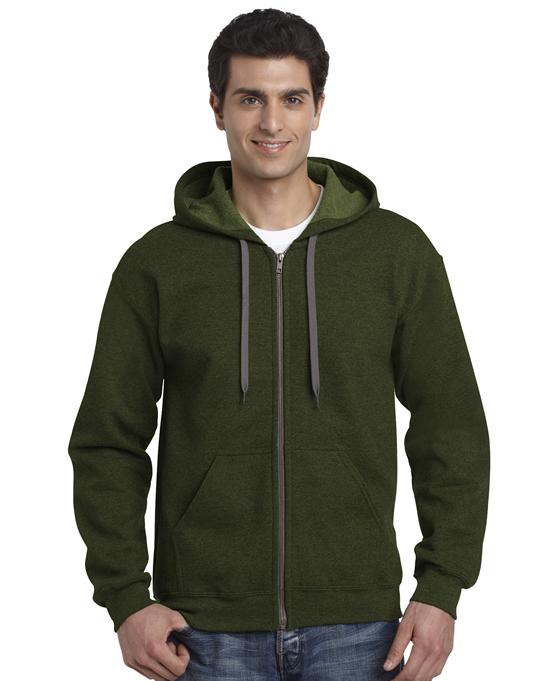 Bluza Heavy Blend Vintage Classic Full Zip Hooded GILDAN 18700 - Gildan_18700_05 - Kolor: Moss
