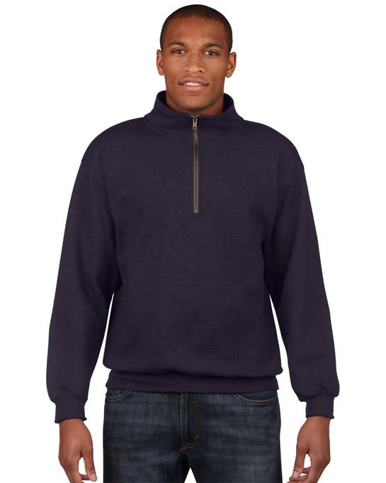 Bluza Heavy Blend Classic Fit 1/4 Zip Adult GILDAN 18800 - Gildan_18800_02 - Kolor: Blackberry