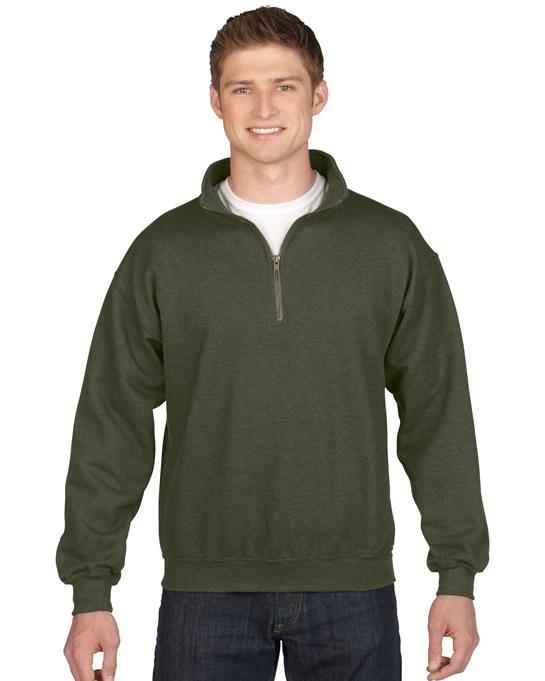 Bluza Heavy Blend Classic Fit 1/4 Zip Adult GILDAN 18800 - Gildan_18800_05 - Kolor: Moss
