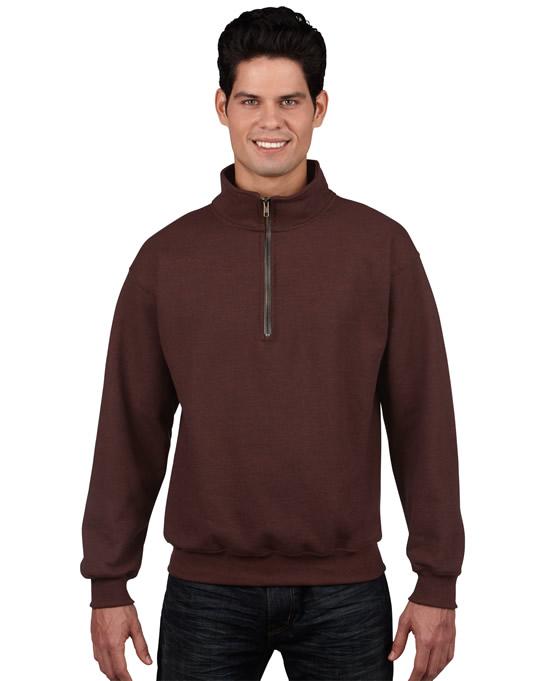 Bluza Heavy Blend Classic Fit 1/4 Zip Adult GILDAN 18800 - Gildan_18800_10 - Kolor: Russet