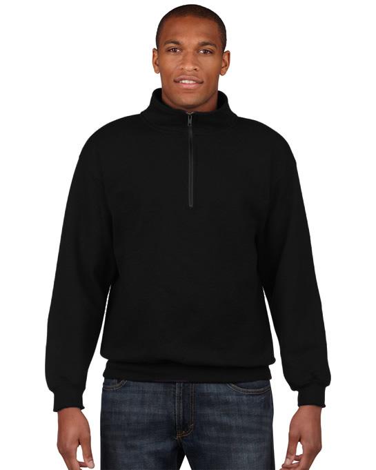 Bluza Heavy Blend Classic Fit 1/4 Zip Adult GILDAN 18800 - Gildan_18800_01 - Kolor: Black