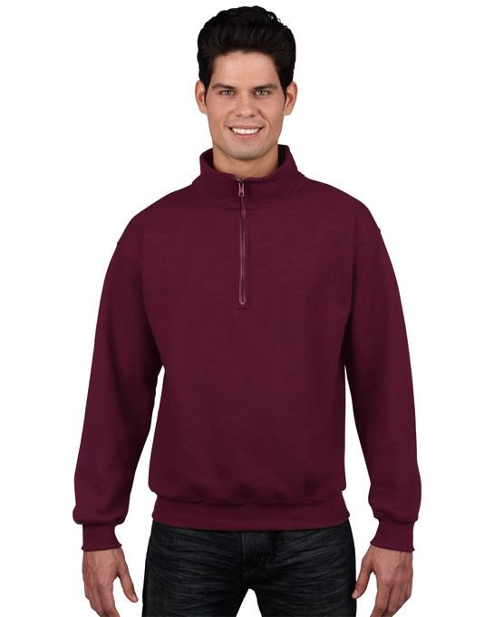 Bluza Heavy Blend Classic Fit 1/4 Zip Adult GILDAN 18800 - Gildan_18800_03 - Kolor: Maroon