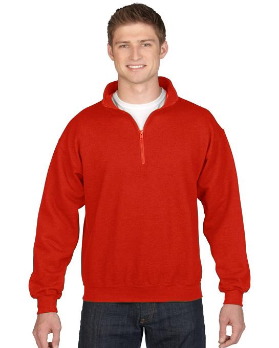 Bluza Heavy Blend Classic Fit 1/4 Zip Adult GILDAN 18800 - Gildan_18800_08 - Kolor: Red