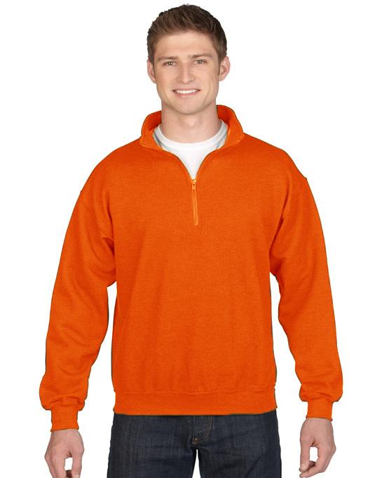Bluza Heavy Blend Classic Fit 1/4 Zip Adult GILDAN 18800 - Gildan_18800_07 - Kolor: Orange