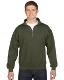 Bluza Heavy Blend Classic Fit 1/4 Zip Adult GILDAN 18800 - Gildan_18800_05 Moss