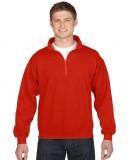 Bluza Heavy Blend Classic Fit 1/4 Zip Adult GILDAN 18800 - Gildan_18800_08 Red