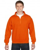 Bluza Heavy Blend Classic Fit 1/4 Zip Adult GILDAN 18800 - Gildan_18800_07 Orange