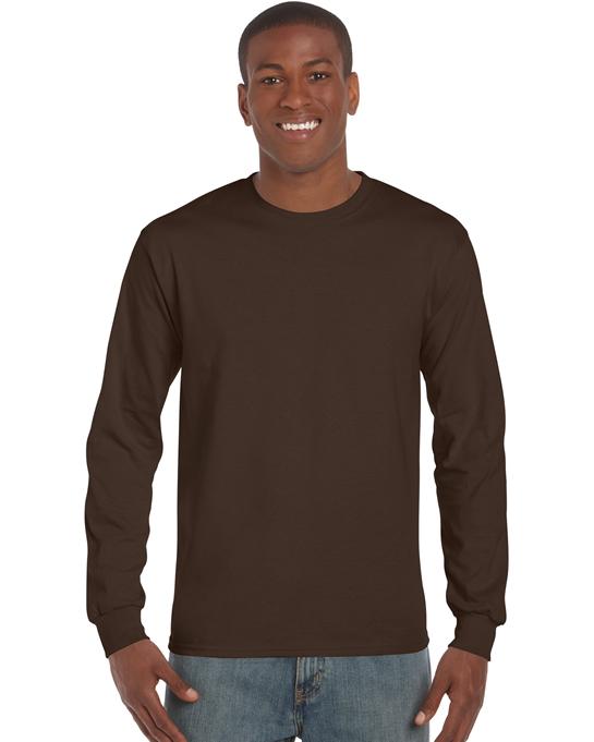 Koszulka Ultra Cotton Long Sleeve Adult GILDAN 2400 - Gildan_2400_06 - Kolor: Dark chocolate