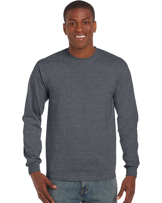 Koszulka Ultra Cotton Long Sleeve Adult GILDAN 2400 - Gildan_2400_07 - Kolor: Dark heather