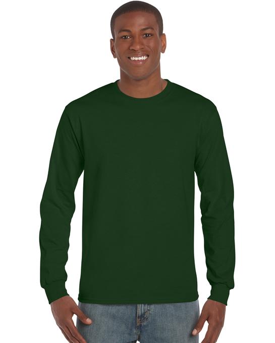 Koszulka Ultra Cotton Long Sleeve Adult GILDAN 2400 - Gildan_2400_08 - Kolor: Forest green