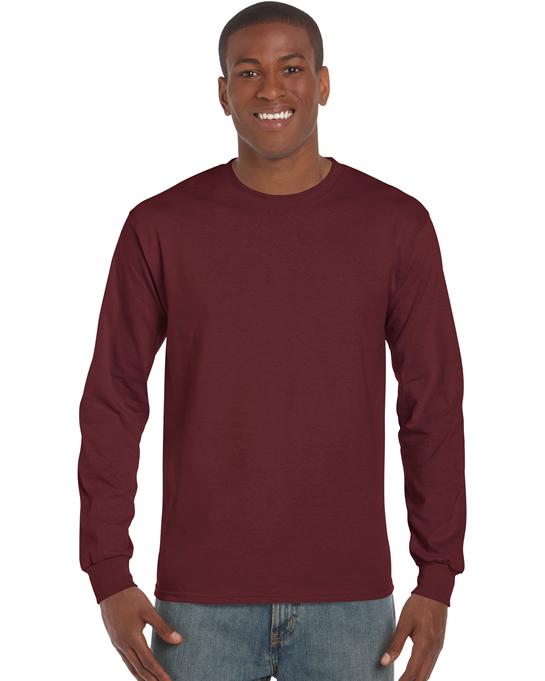 Koszulka Ultra Cotton Long Sleeve Adult GILDAN 2400 - Gildan_2400_14 - Kolor: Maroon