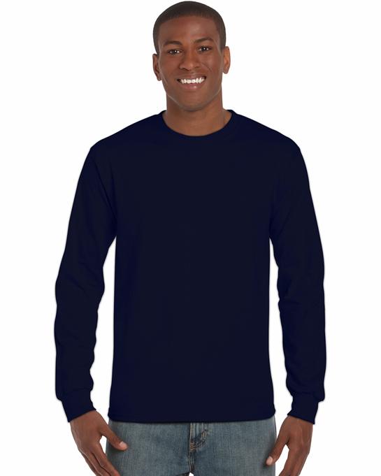 Koszulka Ultra Cotton Long Sleeve Adult GILDAN 2400 - Gildan_2400_15 - Kolor: Navy