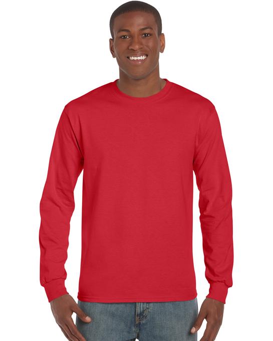 Koszulka Ultra Cotton Long Sleeve Adult GILDAN 2400 - Gildan_2400_17 - Kolor: Red