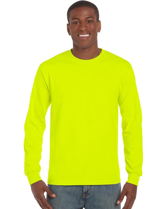 Koszulka Ultra Cotton Long Sleeve Adult GILDAN 2400 - Gildan_2400_19 - Kolor: Safety green