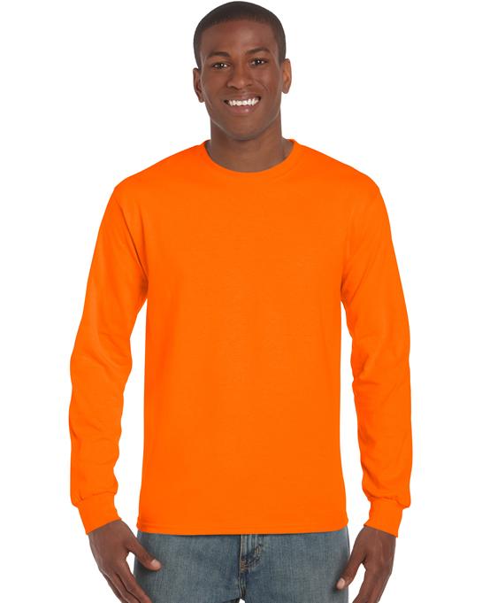 Koszulka Ultra Cotton Long Sleeve Adult GILDAN 2400 - Gildan_2400_20 - Kolor: Safety orange