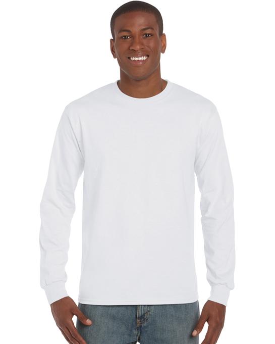 Koszulka Ultra Cotton Long Sleeve Adult GILDAN 2400 - Gildan_2400_22 - Kolor: White
