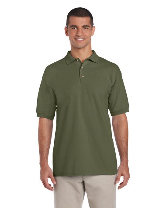 Koszulka Polo Ultra Cotton Adult GILDAN 3800 - Gildan_3800_13 - Kolor: Military green