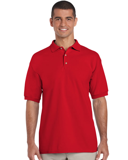 Koszulka Polo Ultra Cotton Adult GILDAN 3800 - Gildan_3800_16 - Kolor: Red