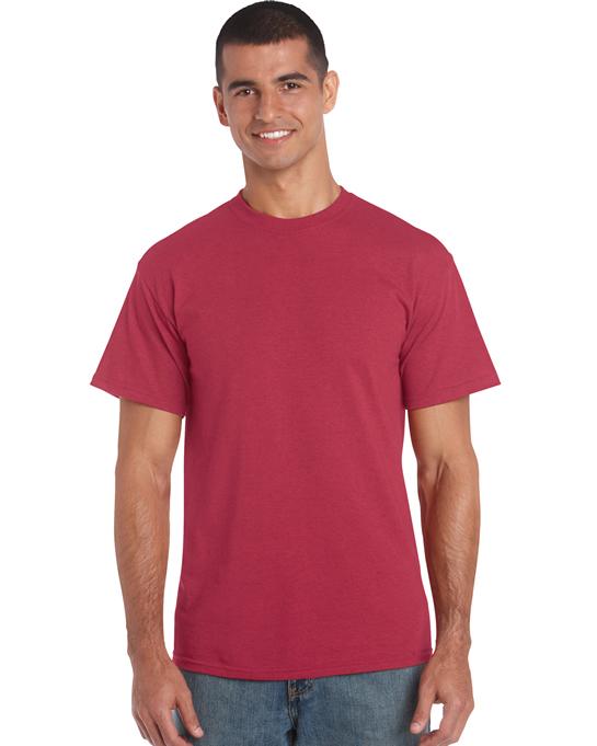 Koszulka Heavy Cotton Adult GILDAN 5000 - Gildan_5000_01 - Kolor: Antique cherry red