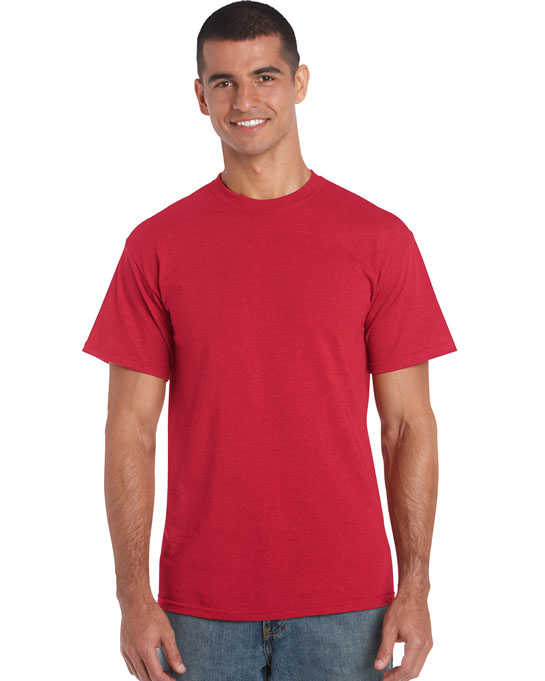 Koszulka Heavy Cotton Adult GILDAN 5000 - Gildan_5000_52 - Kolor: Heather red