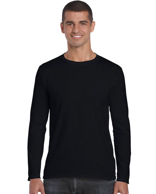 Koszulka Softstyle Long Sleeve Adult GILDAN 64400 - Gildan_64400_01 - Kolor: Black