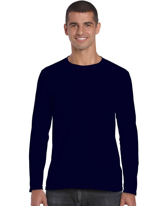 Koszulka Softstyle Long Sleeve Adult GILDAN 64400 - Gildan_64400_03 - Kolor: Navy