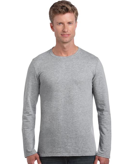 Koszulka Softstyle Long Sleeve Adult GILDAN 64400 - Gildan_64400_07 - Kolor: Sport grey