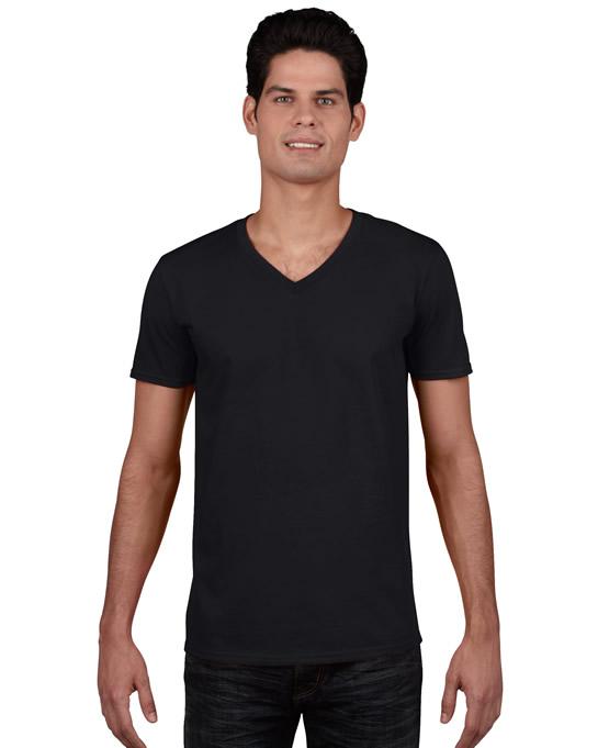 Koszulka Softstyle V-neck Adult GILDAN 64V00 - Gildan_64V00_02 - Kolor: Black