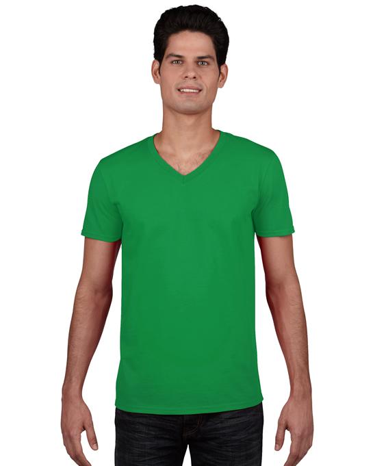 Koszulka Softstyle V-neck Adult GILDAN 64V00 - Gildan_64V00_06 - Kolor: Irish green