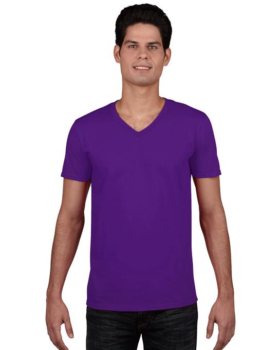 Koszulka Softstyle V-neck Adult GILDAN 64V00 - Gildan_64V00_08 - Kolor: Purple