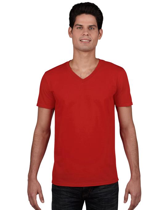 Koszulka Softstyle V-neck Adult GILDAN 64V00 - Gildan_64V00_09 - Kolor: Red