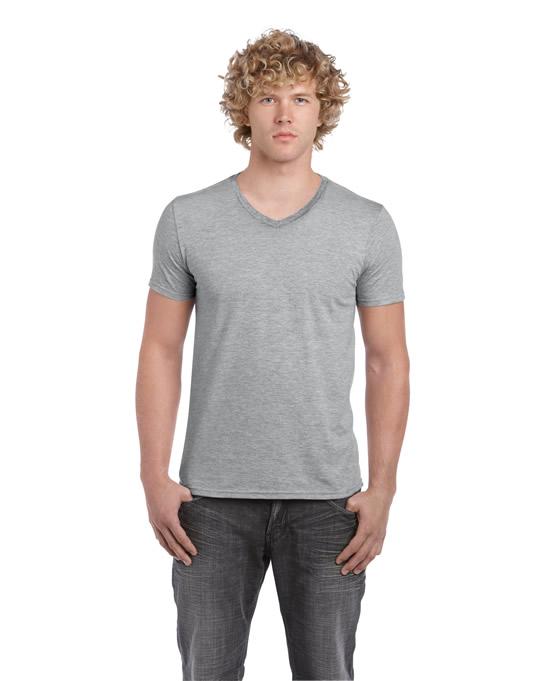 Koszulka Softstyle V-neck Adult GILDAN 64V00 - Gildan_64V00_11 - Kolor: Sport grey