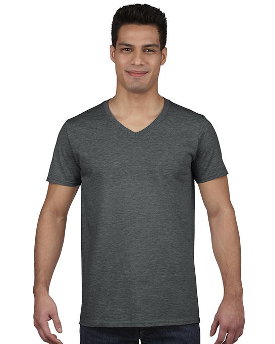 Koszulka Softstyle V-neck Adult GILDAN 64V00 - Gildan_64V00_04 - Kolor: Dark heather