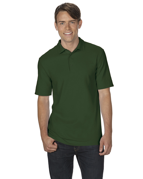 Koszulka Polo DryBlend Double Pique Adult GILDAN 75800 - Gildan_75800_03 - Kolor: Forest green