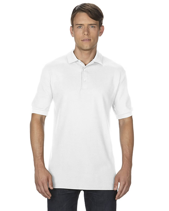 Koszulka Polo Premium Cotton Double Pique Adult GILDAN 85800 - Gildan_85800_04 - Kolor: White