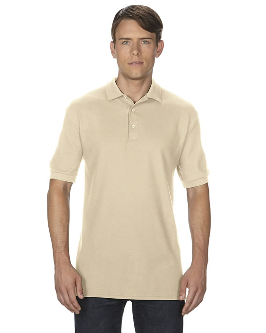 Koszulka Polo Premium Cotton Double Pique Adult GILDAN 85800 - Gildan_85800_09 - Kolor: Sand