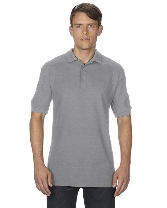 Koszulka Polo Premium Cotton Double Pique Adult GILDAN 85800 - Gildan_85800_18 - Kolor: Sport grey